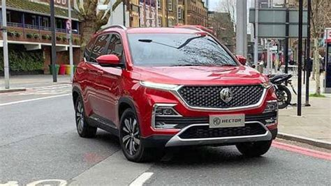 india spec mg hector suv spied  camouflage