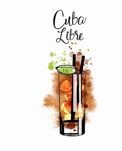 Cuba Libre Illustrations Vector Clip Graphics Cocktail