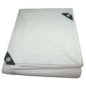 mil heavy duty canopy tarp white pl coated tent car boat cover    ebay