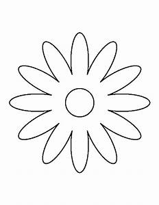 Daisy pattern. Use the printable outline for crafts ...