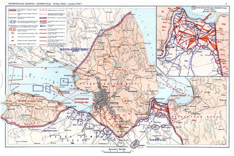 siege of siege of leningrad november 1942 december 1943 maps