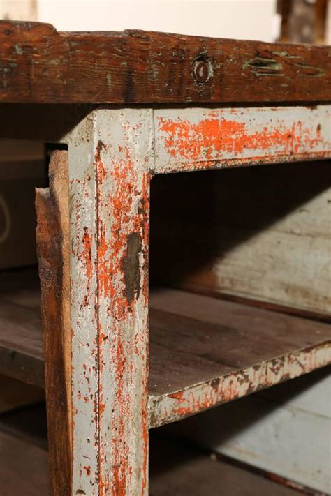 Rustic Work Table For Sale at 1stdibs