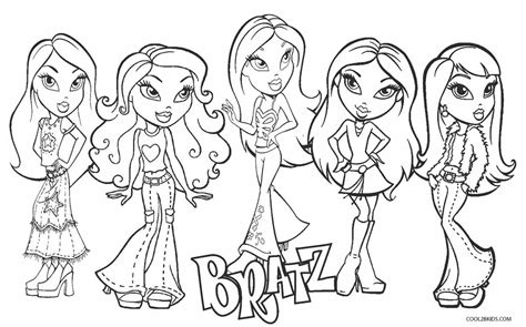 printable bratz coloring pages  kids coolbkids