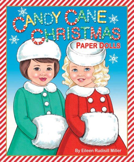 candy cane christmas paper dolls fun  time   year