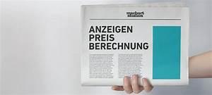 Machart Studios Mannheim : anzeigenpreis festpreis und mm preis berechnen ~ Markanthonyermac.com Haus und Dekorationen