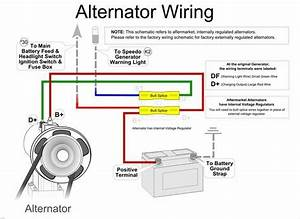 Simple Alternator Wiring Diagram  With Images