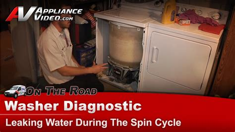 maytag washer leaking from bottom of tub washer diagnostic leaking water during spin cycle