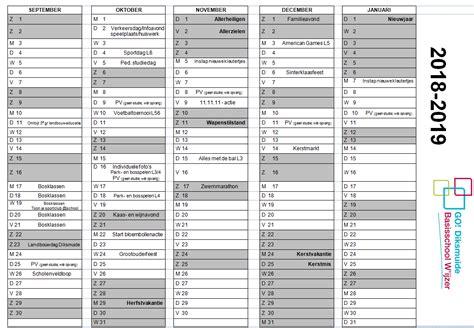 Kalender 2019 Feestdagen Belgie