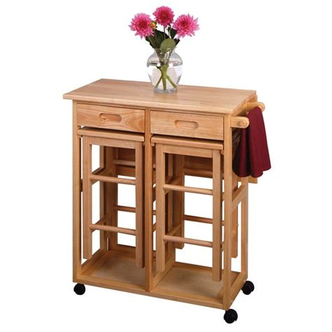 wood kitchen island cart winsome wood 89330 space saver drop leaf table kitchen cart lowe s canada