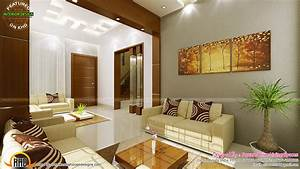 contemporary kitchen dining and living room kerala home With interior design for living room in kerala