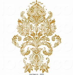 Royalty Free Gold Damask Design Logo by BestVector - #2840