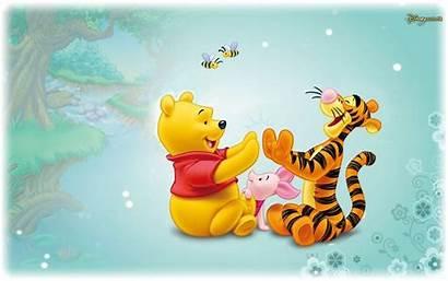 Pooh Winnie Cartoon Disney Tigger Wallpapers Piglet