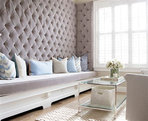 Bright Tufted Bench method New York Contemporary Bedroom Image Ideas