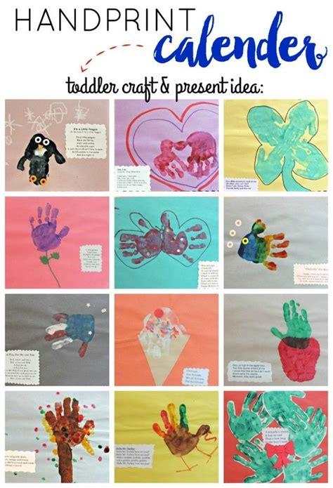preschooler handprint present idea handprint calendar