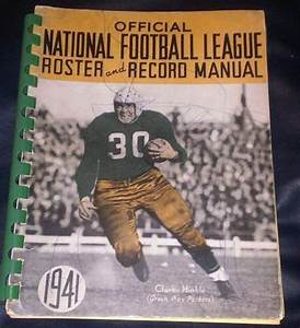 1941  Nfl Publishes First Record Manual