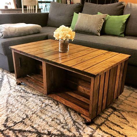 diy wood crate coffee table