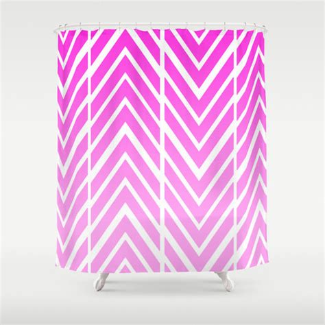 pink shower curtain pink and white arrow shower curtain