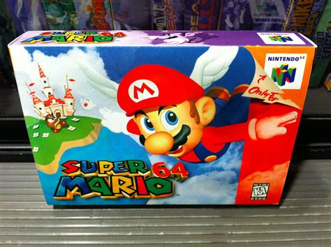 Super Mario 64 Box My Games Reproduction Game Boxes