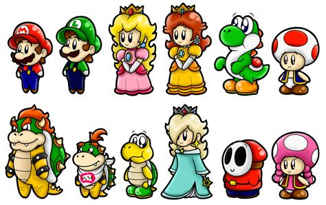 Super Mario Cute Characters 1 By Boxbird On Deviantart