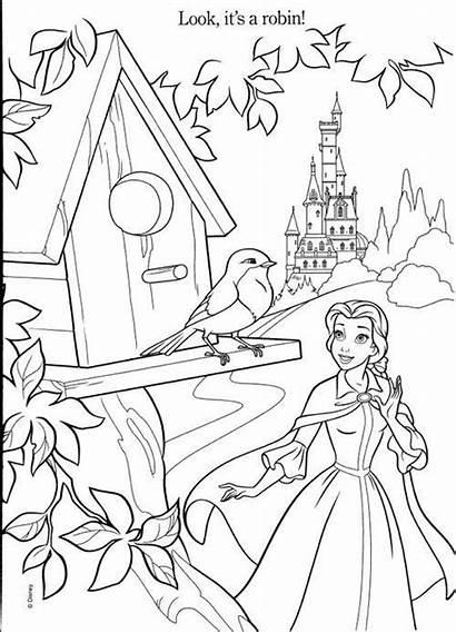 Coloring Belle Pages Disney Princesses Beast Beauty