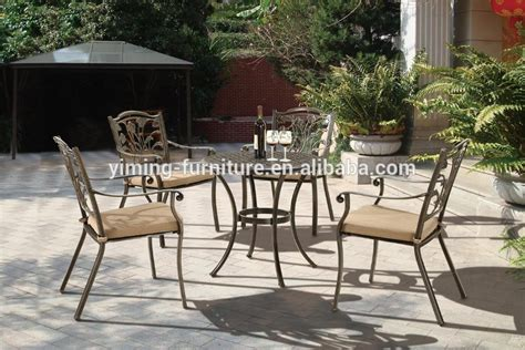 durable metal furniture used patio cast aluminium