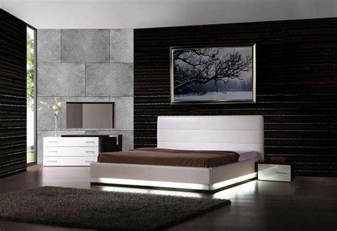 black leather platform bed leather modern contemporary bedroom sets feat light