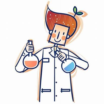 Scientist Science Materials Material Clipart Cliparts Cartoon