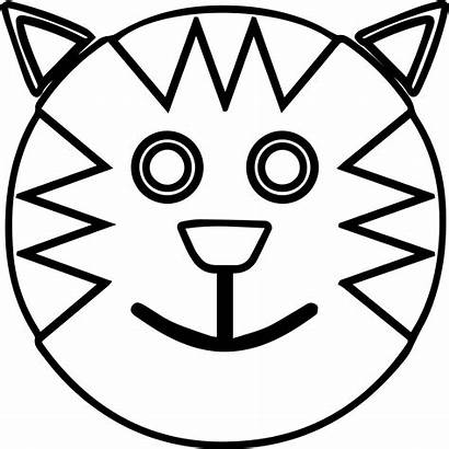 Coloring Face Smiley Printable Smiling Pages Cat