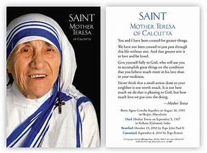 Mother Teresa Prayer Card