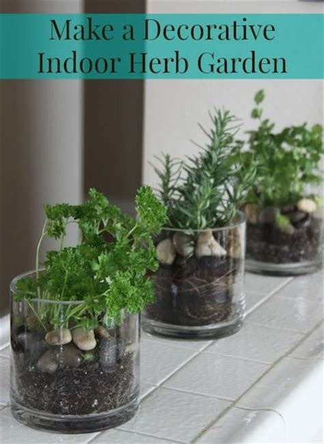 make a decorative indoor herb garden