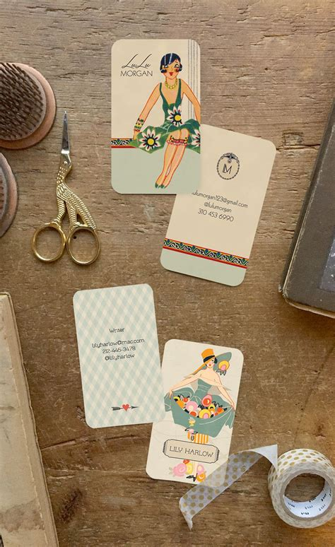 Art Deco business cards or calling cards custom for you