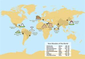 Ancient Wonders of the World Map