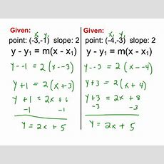 Alg1 78 Pointslope Form