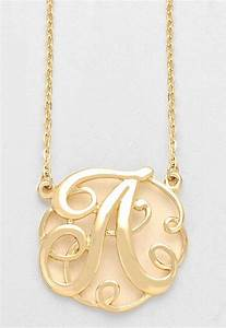 monogram initial necklace 15quot letter a pendant gold chain With gold letter chain