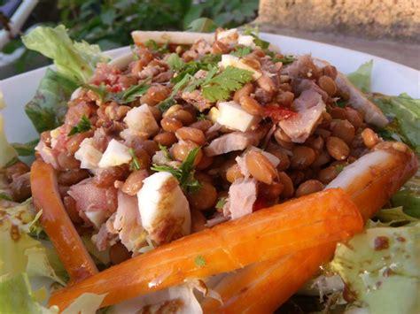 salade de lentilles au thon et surimi la taverne de ginia