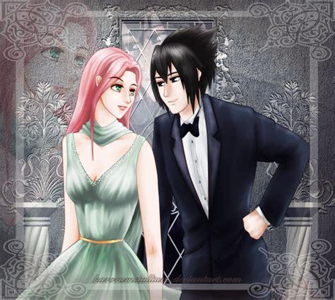 Naruto   Sasuke y Sakura by KaroruMetallium on DeviantArt