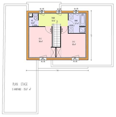plan maison etage 2 chambres plan de maison 100m2 3 chambres plan de maison rectangle