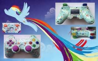 ps3 controller designs rainbow dash mlp fim custom ps3 controller by cardi ology on deviantart