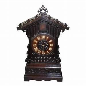 German cuckoo clock with wall mounted shelf circa 1840 for Wall mounted clocks sale