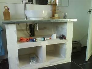 mon chez moi creation d39un meuble de salle de bains With siporex salle de bain