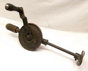 vtg stanley  breast brace hand drill military