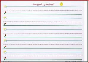 Dotted line writing paper for kindergarten