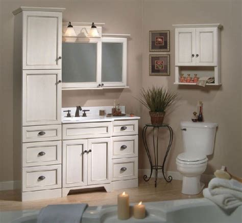 bathroom vanities  linen towers   shown