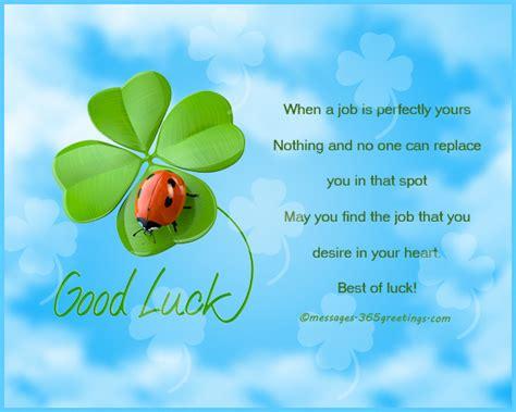 good luck wishes   job greetingscom