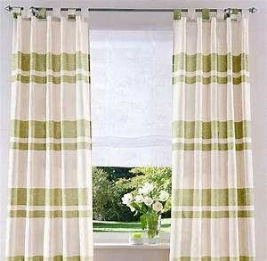 Vorhang Grün Blickdicht : 2 st vorhang gardine store 145 x 225 creme gr n ~ Lateststills.com Haus und Dekorationen