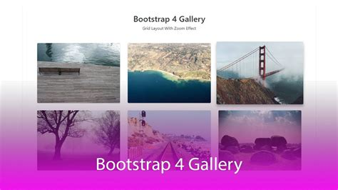 Bootstrap Gallery How To Create Responsive Lightbox Gallery With Bootstrap 4