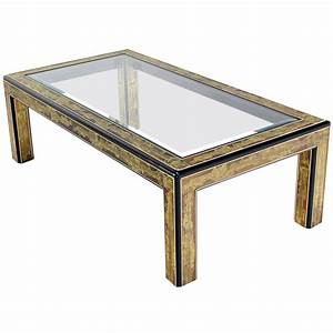 rectangular glass top brass and wood base coffee table by With rectangle glass and wood coffee table