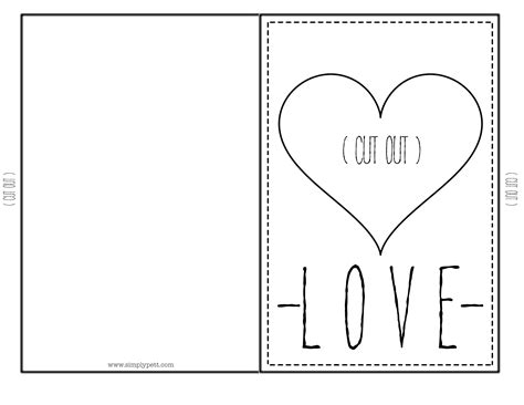 valentines card template archives simply pett