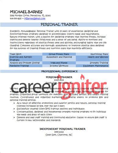 22108 personal trainer resume template personal trainer resume sle resume