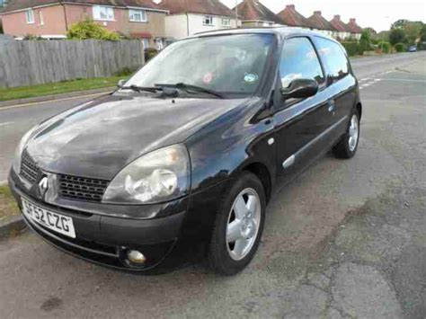 renault clio 2002 black renault 2002 clio extreme dci black with long mot tax